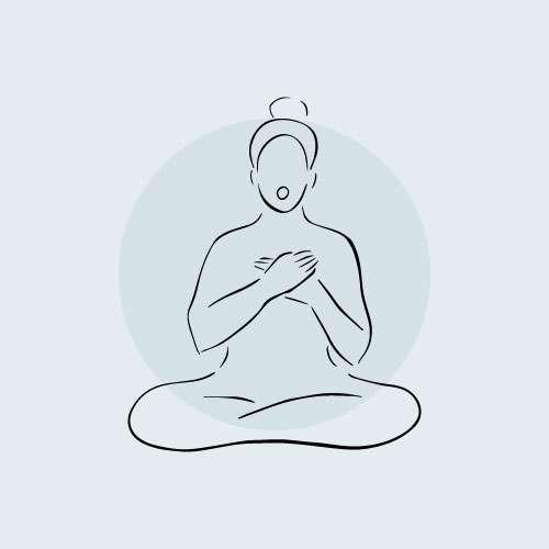 Illustration of woman practicing the Self-care Kriya