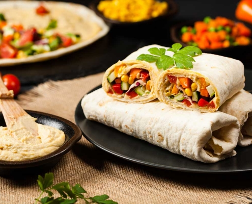 Plant based vegetable wrap