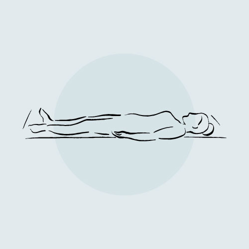 Illustration of woman in Savasana