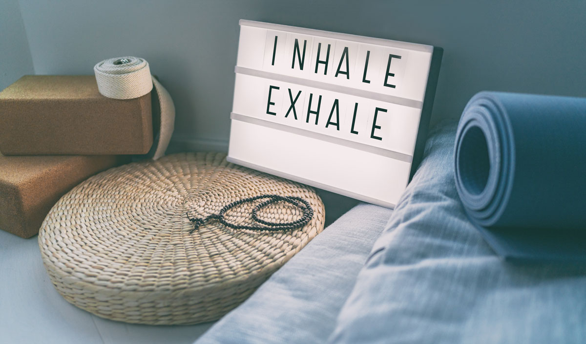 Inhale, Exhale sign