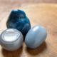 Beautiful blue angelite crystal