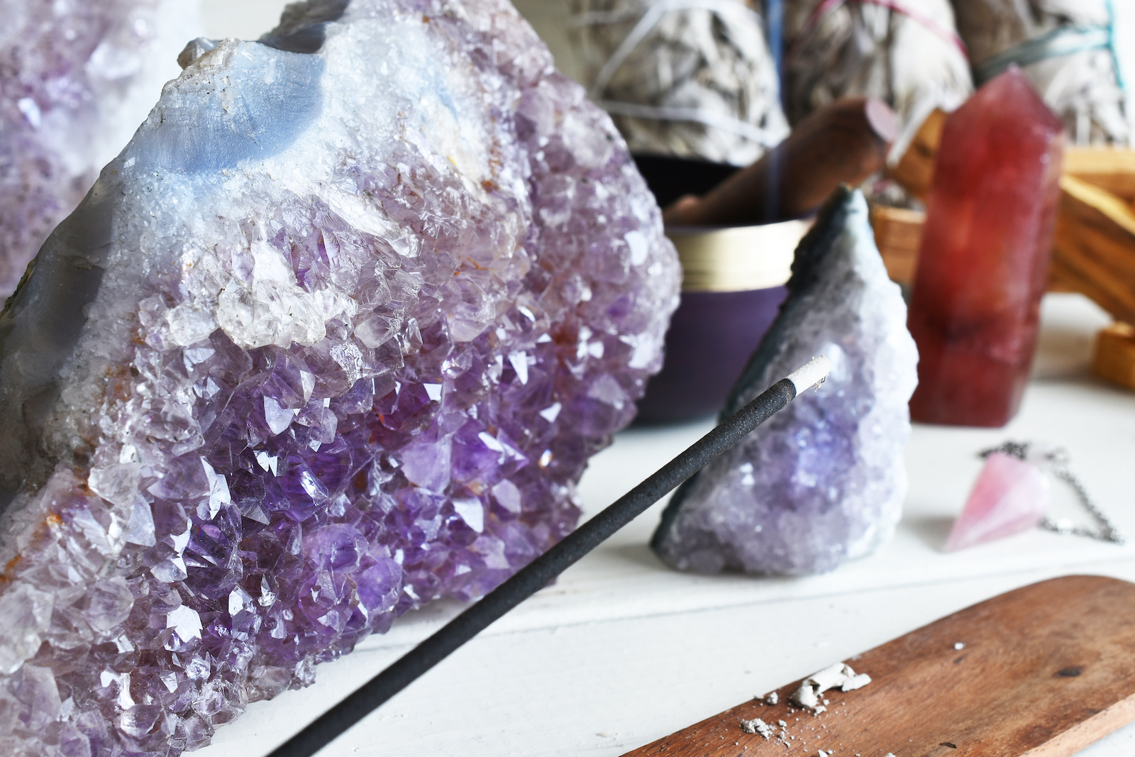 How to Use Incense to Cleanse Healing Crystals